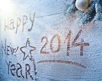 Nuovo anno 2014. fotografia stock libera da diritti