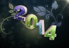 Nuovo anno 2014 Immagini Stock Libere da Diritti
