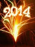 Nuovo anno 2014. Fotografia Stock
