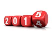 Nuovo anno 2015 Fotografie Stock Libere da Diritti