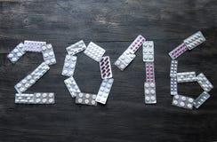 Nuovo anno, 2016 Fotografia Stock