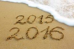 Nuovo anno 2016 Fotografie Stock Libere da Diritti