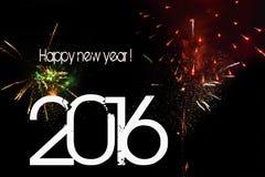 Nuovo anno, 2016 Fotografia Stock Libera da Diritti