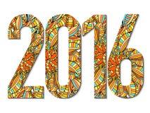 Nuovo anno 2016 Fotografia Stock