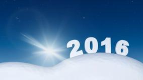 Nuovo anno 2016 Immagine Stock