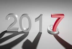 Nuovo anno 2017 illustrazione di stock