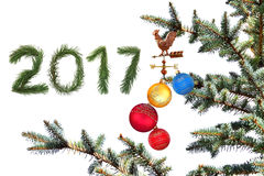 Nuovo anno 2017 Immagini Stock Libere da Diritti