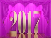 Nuovo anno 2017 Fotografie Stock Libere da Diritti