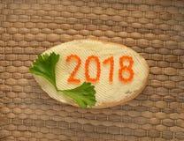 Nuovo anno 2018 Immagine Stock Libera da Diritti