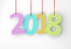 Nuovo anno 2018 Fotografia Stock