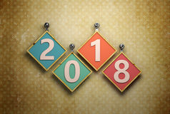Nuovo anno 2018 Immagini Stock