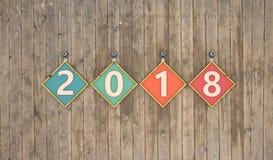 Nuovo anno 2018 Fotografie Stock Libere da Diritti