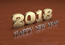 Nuovo anno 2018 Fotografie Stock