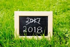 Nuovo anno 2018 Fotografia Stock Libera da Diritti