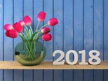 Nuovo anno 2018 Immagini Stock Libere da Diritti