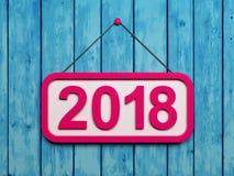 Nuovo anno 2018 Immagine Stock