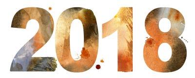 Nuovo anno 2018 illustrazione di stock