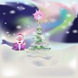 Nuovo anno al Polo Nord Immagini Stock