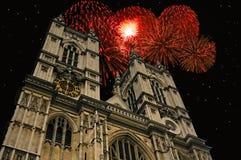 Nuovo anno all'Abbazia di Westminster Fotografia Stock Libera da Diritti