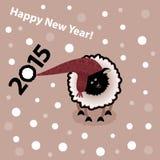 Nuovo anno 2015 Anno di pecore Illustrazione di Stock