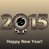 Nuovo anno 2015 Anno di pecore Fotografia Stock