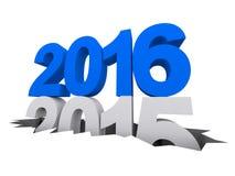 Nuovo anno 2016 Anno scorso 2015 Fotografia Stock Libera da Diritti