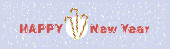 Nuovo anno Bastoncini di zucchero della menta piperita Fotografia Stock