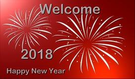 Nuovo anno benvenuto 2018 Immagine Stock Libera da Diritti