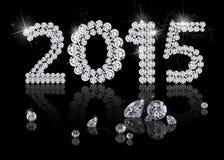 Nuovo anno brillante 2015 illustrazione vettoriale