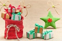 Nuovo anno 2016 Buon Natale, rosso di Santa Claus Fotografia Stock Libera da Diritti