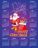 Nuovo anno, calendario festivo per 2018 Immagini Stock Libere da Diritti