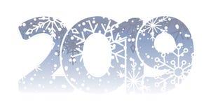 Nuovo anno 2019 calendario Iscrizione bianca, Chrismas allegro Stanze creative minimalisti moderne festive Fondo scuro Smartphone illustrazione vettoriale