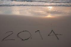 Nuovo anno 2014 che viene Fotografie Stock Libere da Diritti