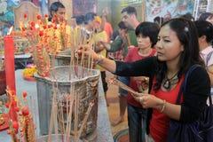 Nuovo anno cinese 2012 - Bangkok, Tailandia Immagini Stock Libere da Diritti
