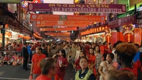 Nuovo anno cinese alla città Bangkok della Cina archivi video