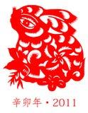 Nuovo anno cinese -- Anno del coniglio Fotografia Stock Libera da Diritti