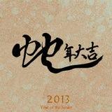 Nuovo anno cinese 2013, calligrafia Fotografia Stock