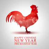 Nuovo anno cinese del gallo del fuoco Fotografia Stock
