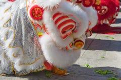 Nuovo anno cinese di Penang, il ballo di leoni Immagini Stock Libere da Diritti