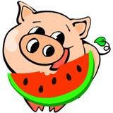Nuovo anno cinese di porcellino, fumetto, celebrazione, progettazione, divertimento, felicità illustrazione vettoriale