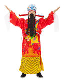 Nuovo anno cinese! dio delle ricchezze e della prosperità della parte di ricchezza Immagini Stock Libere da Diritti