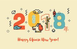 Nuovo anno cinese ed insegna Fotografia Stock Libera da Diritti