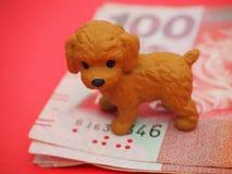 Nuovo anno cinese felice! 2018 anni del cane! Immagini Stock Libere da Diritti