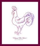 Nuovo anno cinese felice, 2017 l'anno del gallo Fotografie Stock Libere da Diritti