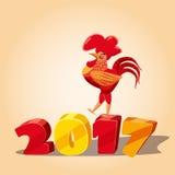 Nuovo anno cinese, gallo Immagine Stock Libera da Diritti