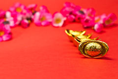 Nuovo anno cinese - lingotti dell'oro II Fotografie Stock
