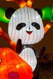 Nuovo anno cinese Panda Bear di festival di lanterna Fotografia Stock Libera da Diritti