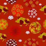 Nuovo anno cinese Patern senza cuciture illustrazione di stock