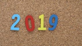Nuovo anno Colourful 2019 fotografie stock