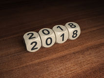 Nuovo anno 2018 con la chiave Fotografia Stock